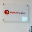 ApolloAsiaPac Acrylic sign