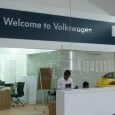 VW counter sign-Welcome