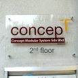 CONCEPT-wall mounted acrylic sign