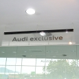 audi juru-hanging ceiling sign
